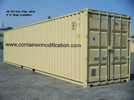 40' HC One Trip Container