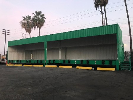 Transloading Dock Made of Shipping Containers